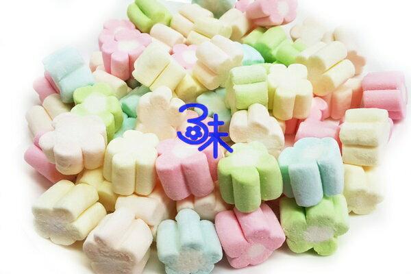 (菲律賓) 蜜意坊 造型棉花糖 (TO-12五彩梅花1.5cm) 1包1公斤 特價168元 (雪Q餅、雪花餅原料)