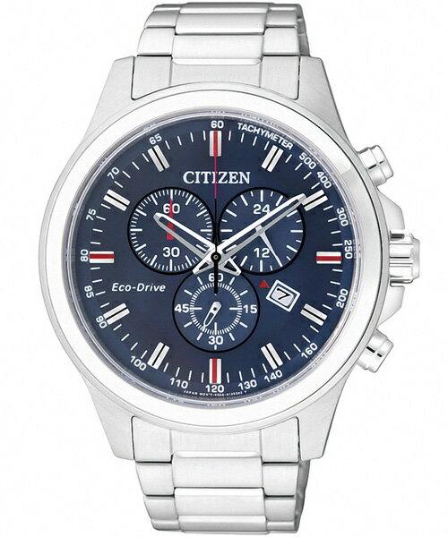 CITIZEN星辰AT2310-57L未來空間感光動能計時腕錶/藍面43mm