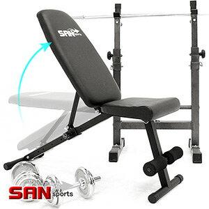 【SAN SPORTS】角度調整型仰臥起坐板(重量訓練機啞鈴椅.舉重床舉重椅.健腹機健腹器仰臥板.臥推椅啞鈴凳子.運動健身器材.推薦哪裡買ptt)C080-6005DG
