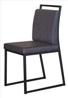 【石川家居】YE-A477-07派克黑腳亞麻皮餐椅(藍皮)(不含餐桌及其他商品)台北到高雄搭配車趟免運