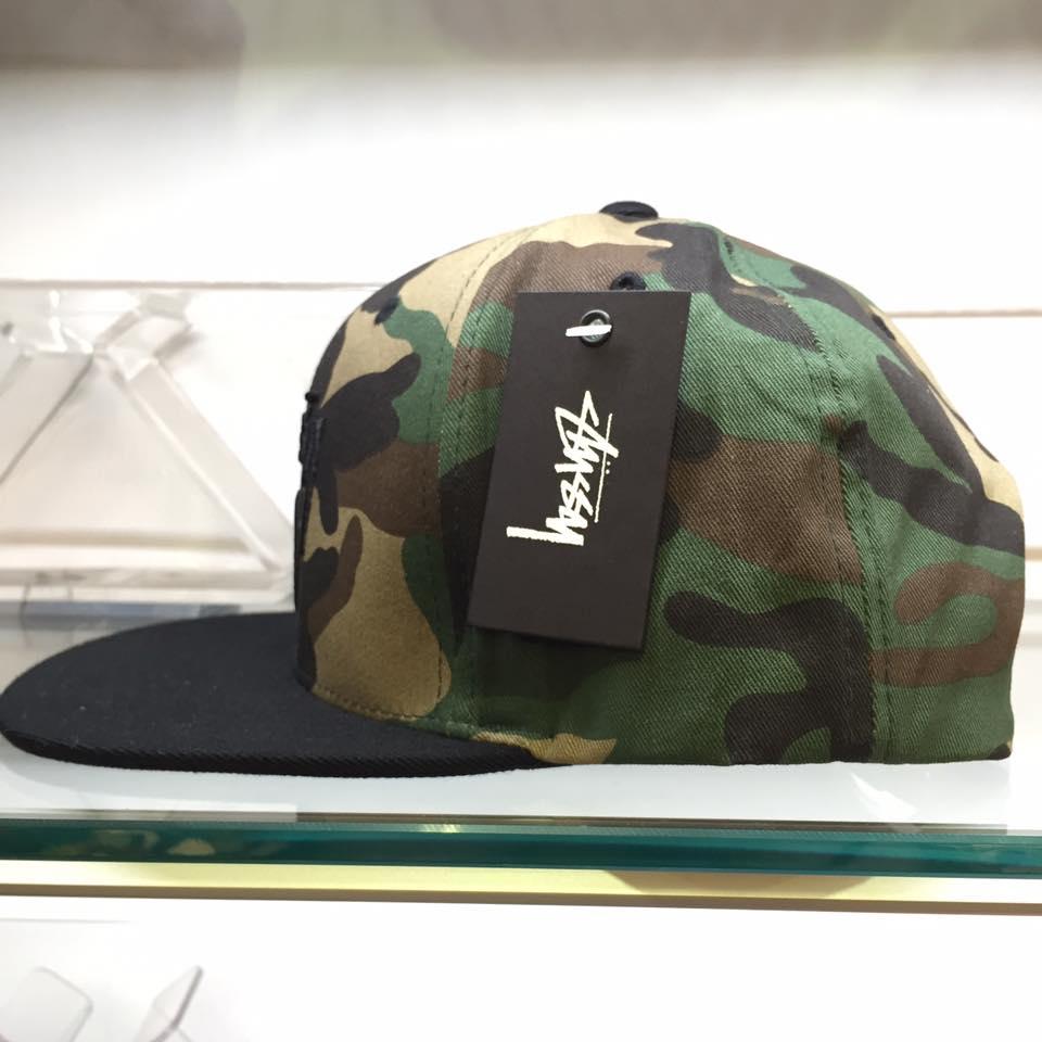 BEETLE STUSSY STOCK LOCK FA15 CAP 迷彩 黑 棒球帽 LOGO 滿版 刺繡 復古 1