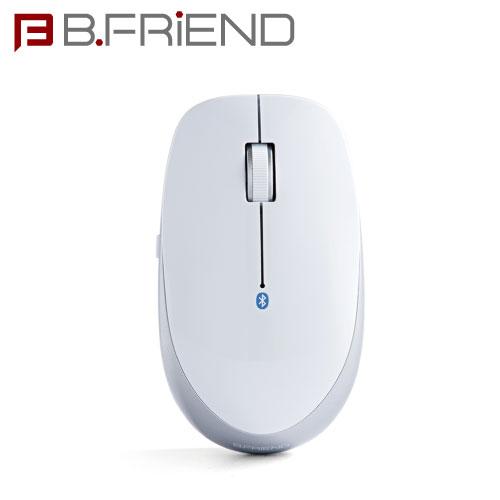 B.FRIEND無線藍芽滑鼠MT002銀白
