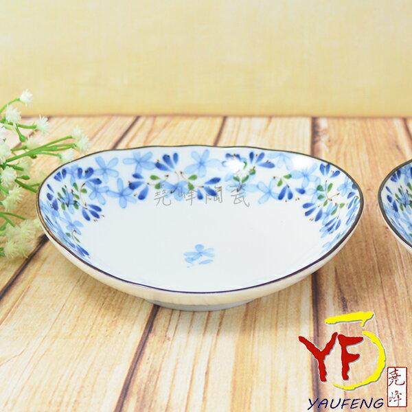~堯峰陶瓷~餐桌系列 美濃燒 5.25吋 芽 橢圓盤 餐盤 小盤子 ~  好康折扣