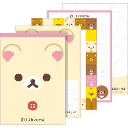 【真愛日本】18022400018 日製奶熊新版大便條-大臉米 san-x 拉拉熊 奶熊 懶妹 便條紙 便條本