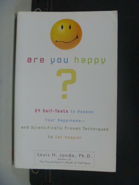 【書寶二手書T9/心理_HFT】Are You Happy_Janda, Louis H.