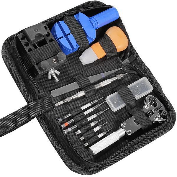 14pcs Watch Repair Tool Kit Case Opener Link Spring Bar Band Pin Remover Hammer 1