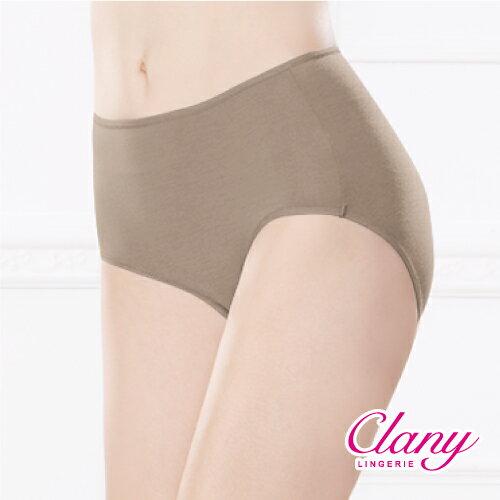 【可蘭霓Clany】天然健康絲蛋白M-XL中腰褲 初暮黃 2152-71 1