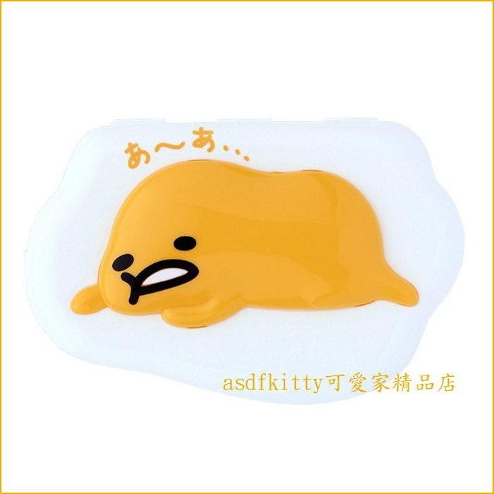 asdfkitty可愛家☆蛋黃哥濕紙巾蓋-可重複黏貼-隨身包.溼拖巾.廚房油污濕巾...也可使用-日本正版商品