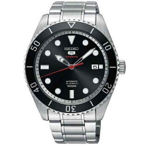 SEIKO精工精工5號經典復刻機械錶黑x銀4R35-02D0D(SRPB91J1)
