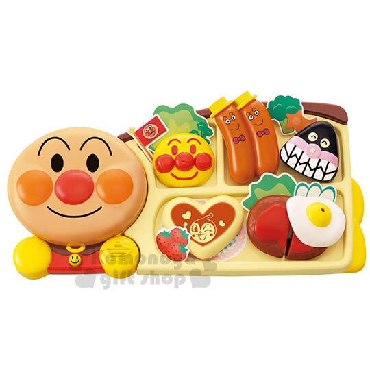 〔小禮堂嬰幼館〕麵包超人 餐點玩具組~橘盒裝.大臉~ 3歲以上兒童