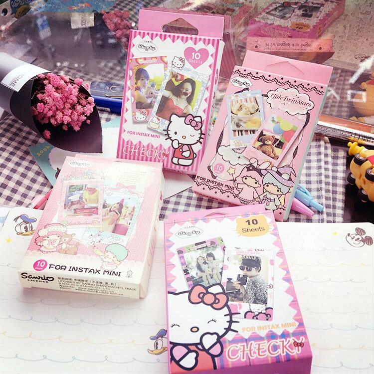 PGS7 富士 拍立得 - 日系卡通 系列 盒裝加厚邊框 貼紙 裝飾 Mini 系列 空白 底片【SHT5179】