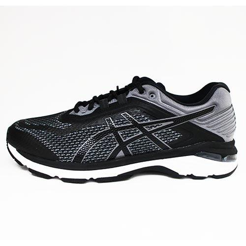 Asics亞瑟士男慢跑鞋GT-20006(黑)4E寬楦頭高緩衝支撐型T807N-001【胖媛的店】