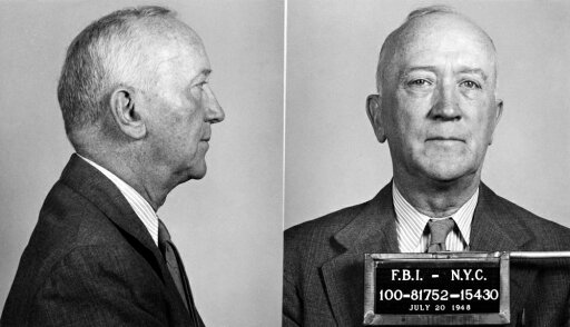 William Zebulon Foster N(1881-1961) American Labor Leader Fbi Mug Shot Of Foster Then Chairman Of The US Communist Party After His July 1948 Indictment Under The Federal Smith Act Of 1940 Which Prohibited Conspiring To Teach The Violent Overthrow Of 7113