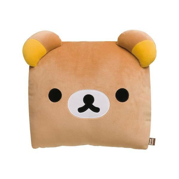 【真愛日本】17030200029方形枕頭S-懶熊大臉咖  SAN-X 懶懶熊 拉拉熊 枕頭 靠枕 正版