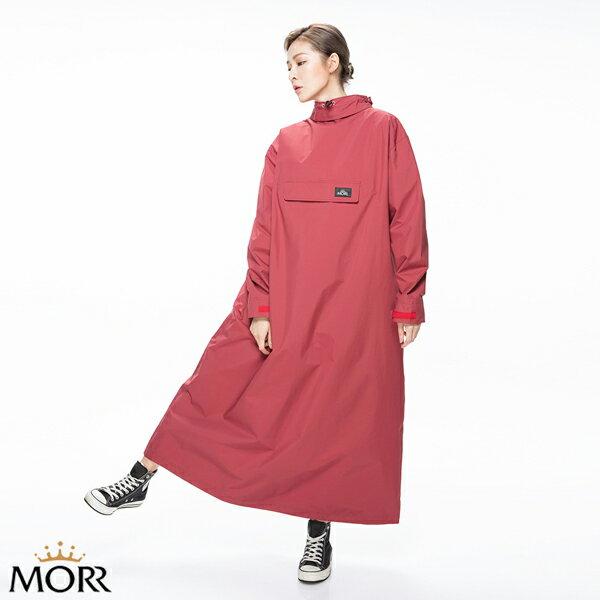 MORR時尚機能風雨衣-PostPosi反穿雨衣-栗酒紅NG1104