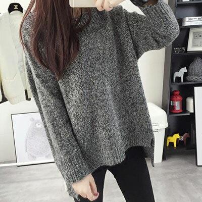 針織毛衣 領口一字織紋設計針織毛衣 4色【1500400】LYNNSHOP 1