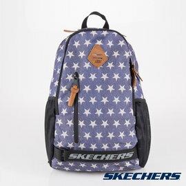 [陽光樂活]SKECHERS雙拉鍊透氣網布耐用單寧星星後背包運動背包-S37309