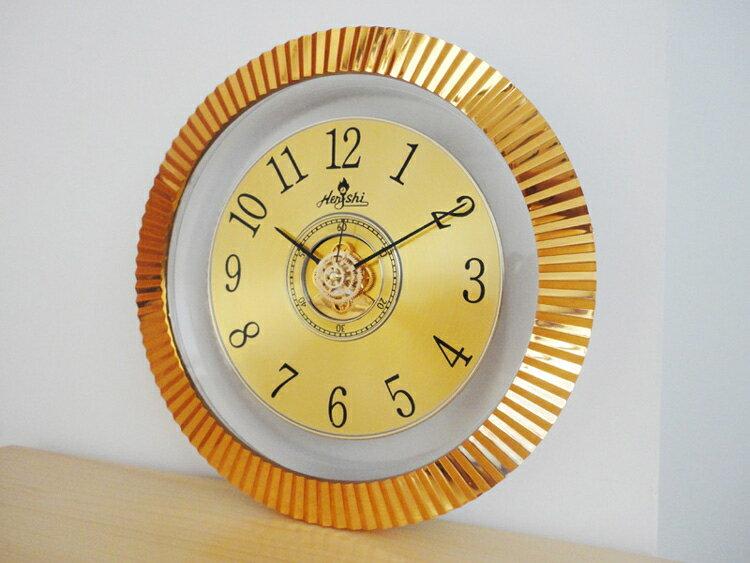 12英寸時尚潮流創意金屬質感掛鐘表客廳靜音時鐘石英鐘表