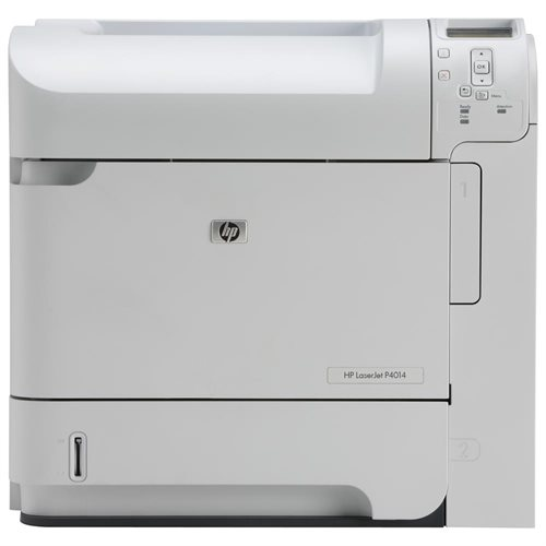 HP LaserJet P4014N Laser Printer - Monochrome - 1200 x 1200 dpi Print - Plain Paper Print - Desktop - 45 ppm Mono Print - Letter, Legal, Executive, Statement, Com10 Envelope, Monarch Envelope, Custom Size - 600 sheets Standard Input Capacity - 175000 Duty 0