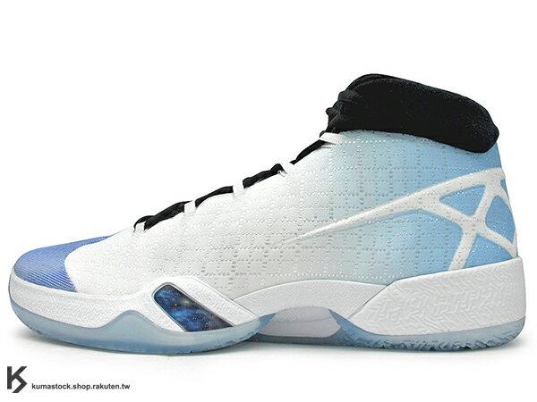 [28cm] 2016 雷霆隊 Russell Westbrook 代言 新生代飛人 限量發售 史上最強 NIKE AIR JORDAN XXX 30 UNC 白黑北卡藍 飛人 3D PERFORMANCE WOVEN 功能性編織鞋面 FLIGHT PLATE + ZOOM 避震科技傳導 籃球鞋 (811006-107) !