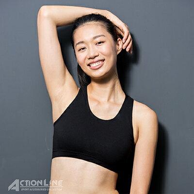 【ACTIONLINE】純棉運動內衣-黑