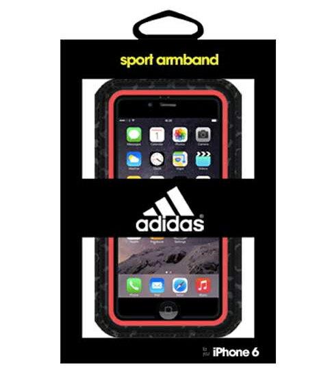 [陽光樂活] 愛迪達 Adidas Griffin iPhone6 PLUS 5.5 吋 運動防水 運動手機臂套 藍/紅 兩色