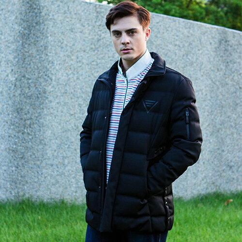 秋冬新款超保暖黑色舒適保暖素面風格羽絨紳士百搭外套上衣【17292-88】【M~XL】
