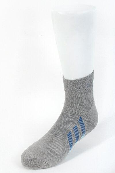 【金‧安德森】男版寬口竹炭無痕毛巾短襪(加大尺碼)