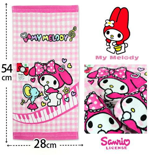 【esoxshop】My Melody 純棉童巾 美樂蒂音樂款 三麗鷗 Sanrio