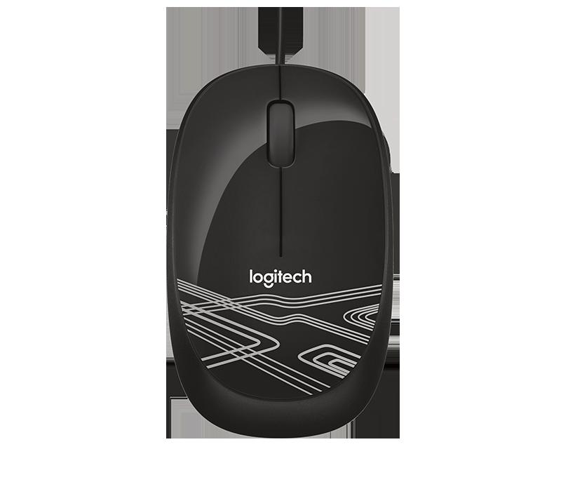 Logitech 羅技 M105 有線、舒適、左右手通用 有線滑鼠 花紋滑鼠 滑鼠 高解析光學追蹤技術