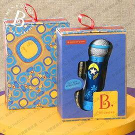 【美國B.Toys感統玩具】卡拉OK麥克風(藍)【紫貝殼】