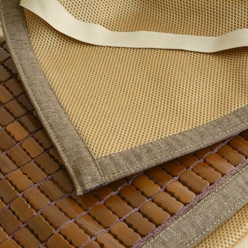 【深色邊3D透氣包邊炭化專利】布繩織帶款 / 透氣底部設計-麻將蓆-單人 / 雙人 / 加大 / 特大尺寸- 絲薇諾 3