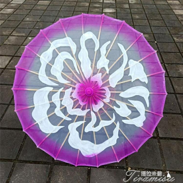 新年大禮包 道具傘-透明茉莉花開舞蹈繪畫傘 茉莉情懷演出道具傘 旗袍走秀工藝跳舞傘