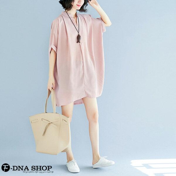加大尺碼★F-DNA★溫柔雪紡短袖連衣裙洋裝(粉-大碼F)【EG22060】 5