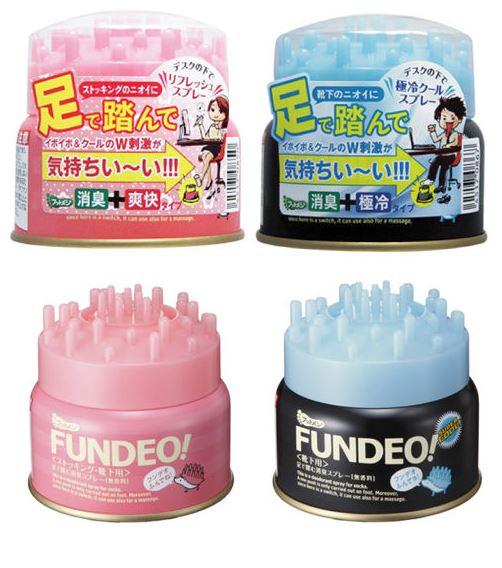 日本 FUNDEO 足爽踩壓式按摩罐 95g 按摩 辦公室小物