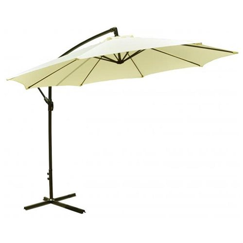 10 ft offset patio hanging umbrella beige 0 - Umbrella Patio