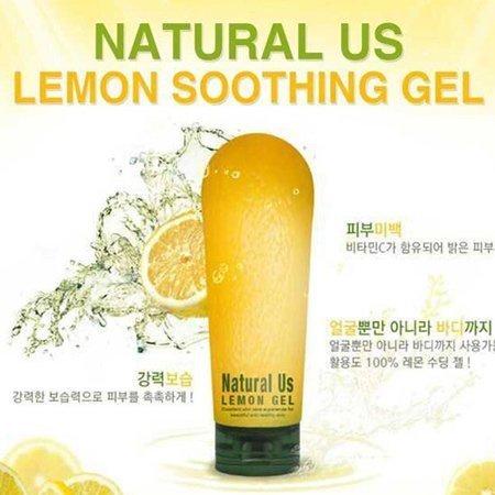 韓國 Natural Us LEMON GEL 檸檬保濕凝膠 檸檬膠 180ML ~真愛香