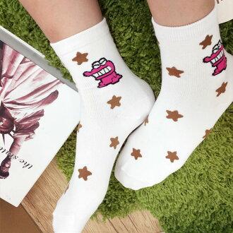 PGS7 (現貨+預購) 卡通系列商品 - 正韓 餅乾怪獸 星星 長襪 襪子