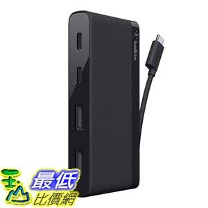 [8美國直購] 集線器 Belkin USB-IF Certified 4-Port Mini USB-C Hub Two USB-C Two USB-A Ports Not Supporting Pass-Through Charging