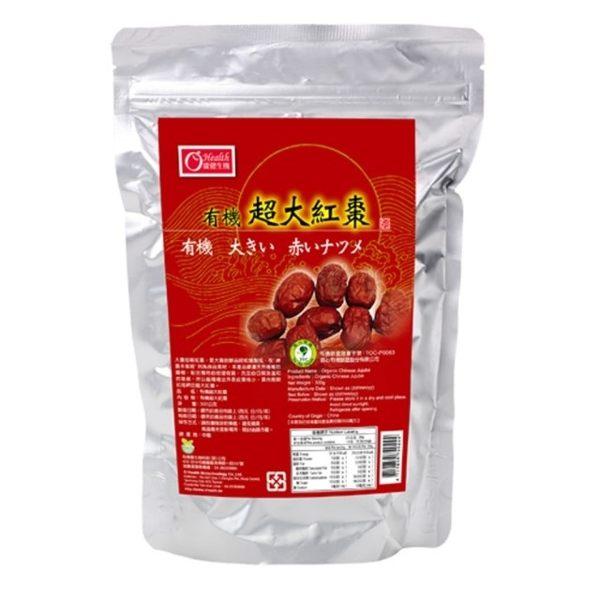 【康健生機】有機超大紅棗(300g包)
