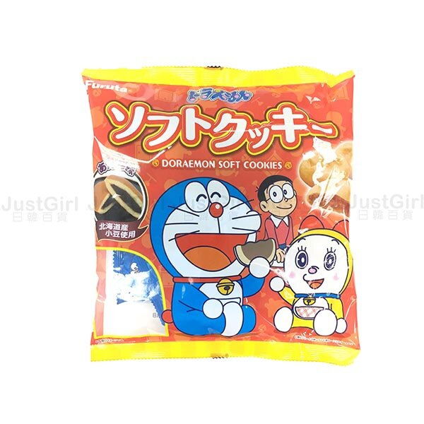 Furuta古田 哆啦A夢 小叮噹 餅乾 紅豆夾心餅 銅鑼燒餅乾 零食 140g 食品 日本製造進口 JustGirl