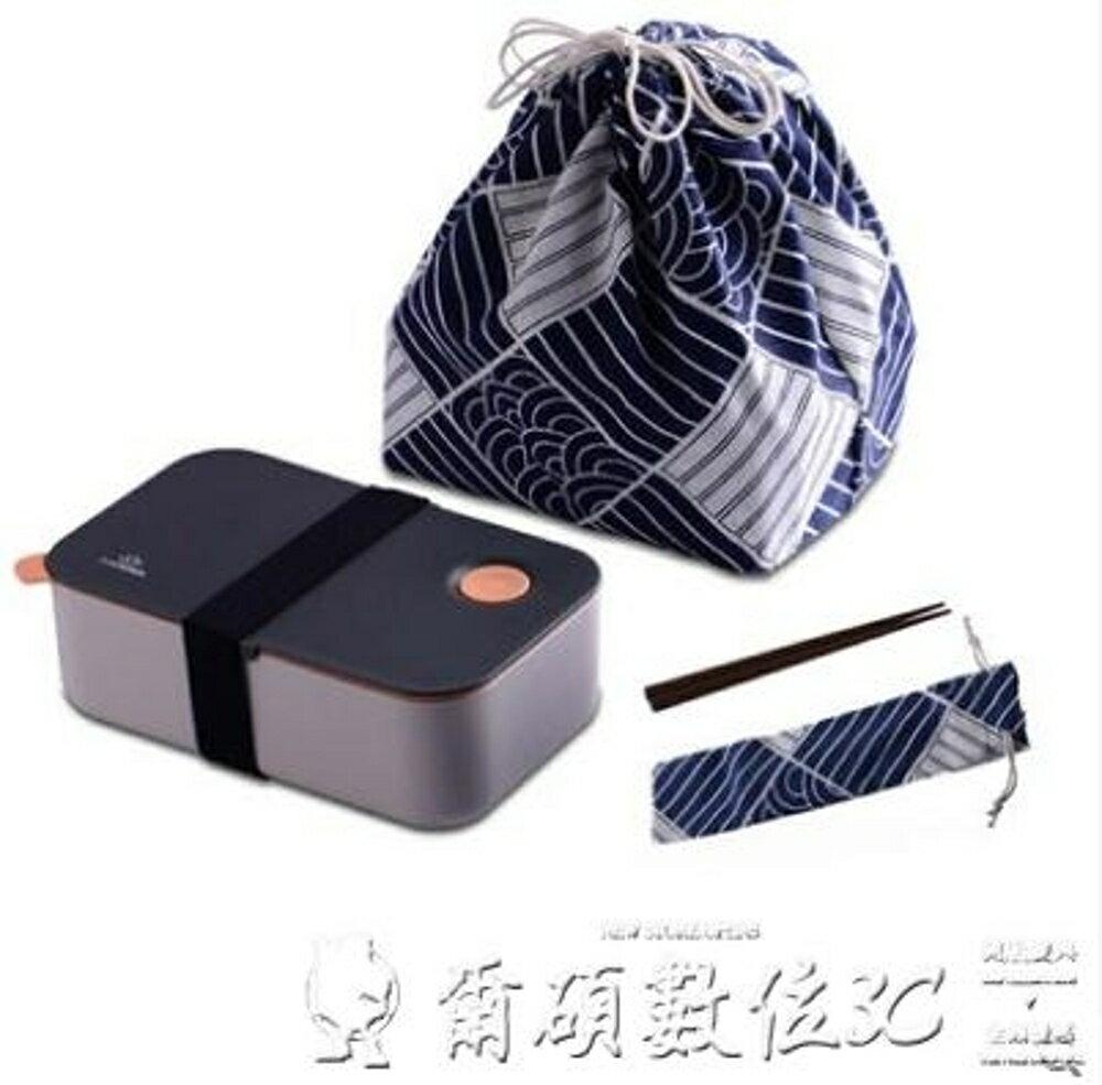 便當盒日式塑料學生保溫飯盒成人單層便當盒可微波爐分格愛心加熱餐盒 清涼一夏特價