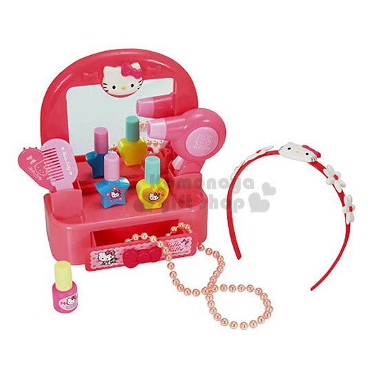 〔小禮堂嬰幼館〕Hello Kitty 梳妝台玩具組《粉盒裝.大臉.花髮箍》適合3歲以上兒童