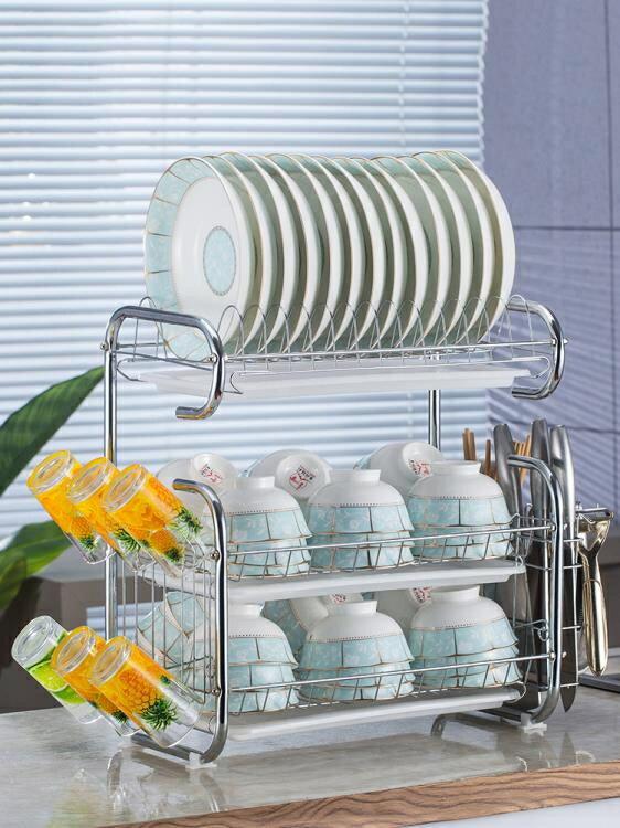 廚房置物架 用品用具晾洗放瀝水碗架碗柜碗碟碗筷盤刀收納盒餐具架