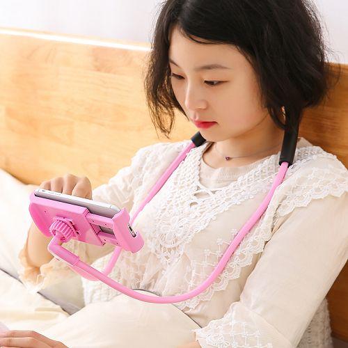 ✤宜家✤網紅懶人神器掛脖卡扣式手機架 床上看電視支架 - 限時優惠好康折扣