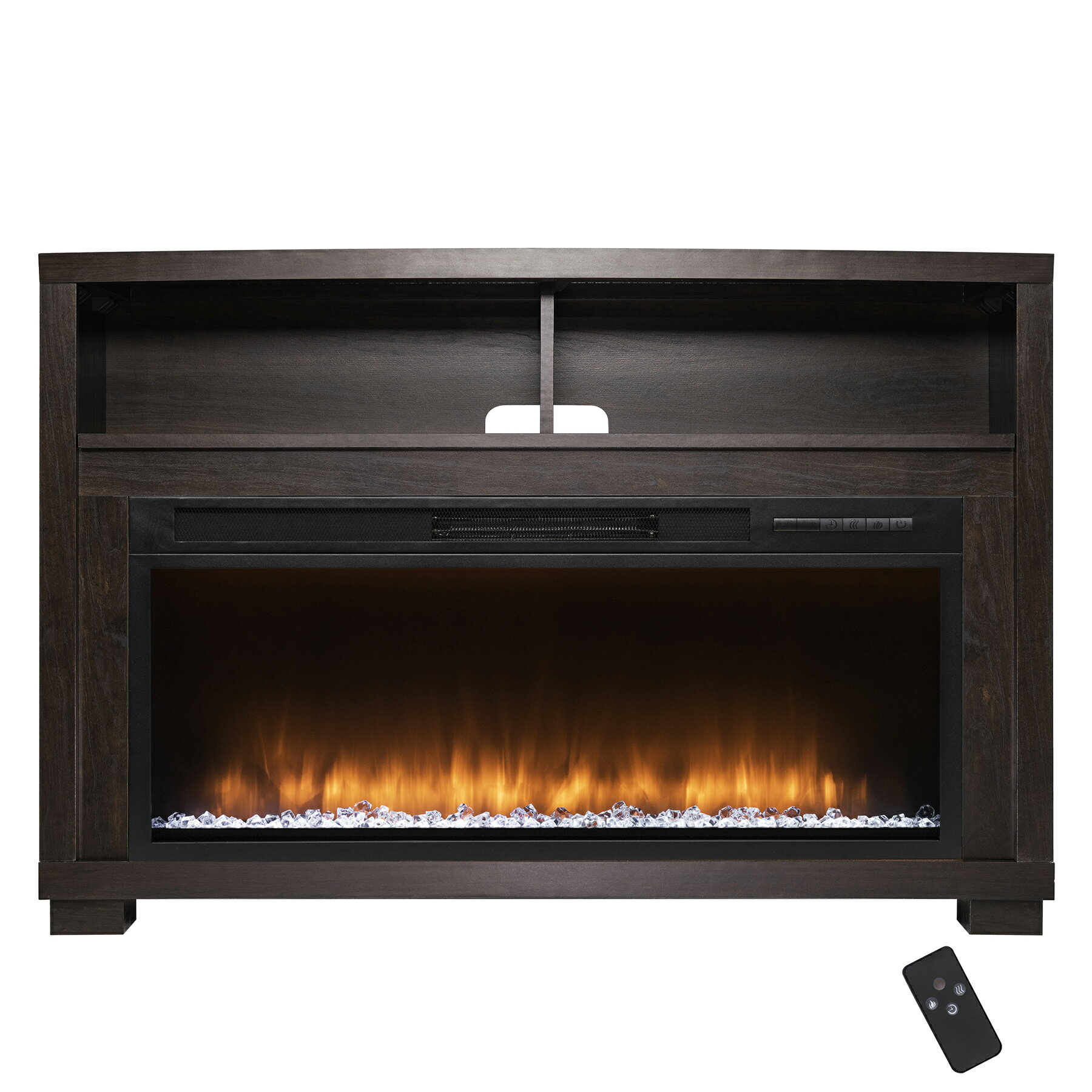"AKDY 44"" Freestanding Brown Wooden Electric Fireplace Heater w/ Remote 0"