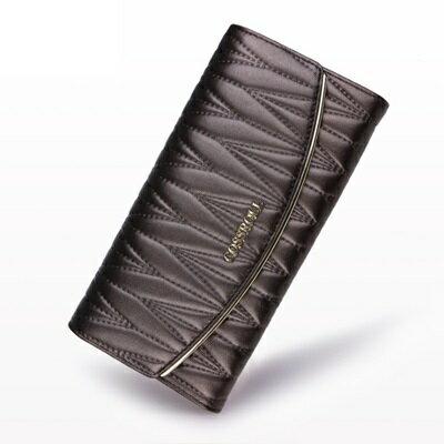 長夾真皮手拿包-時尚名媛優雅氣質女皮夾5色73rs29【獨家進口】【米蘭精品】