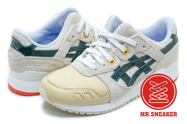 ☆Mr.Sneaker☆ASICSTigerGEL-LYTEIII襪套聖誕節皮革麂皮米綠男女段