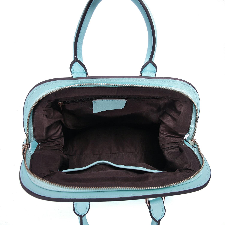 【BEIBAOBAO】繽紛馬卡龍真皮手提側背包(粉霧藍 共六色) 6