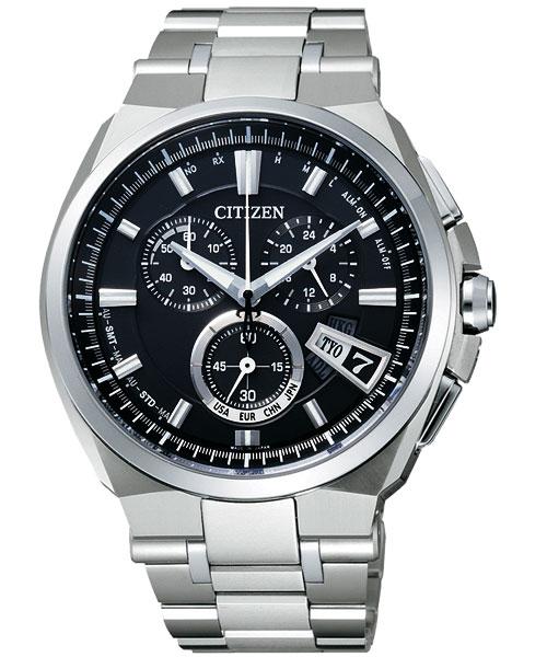 CITIZEN星辰BY0070-51E頂級電波鈦金屬光動能腕錶/黑面43mm